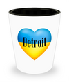 Ukrainian In Detroit - Shot Glass - Unique Gifts Store