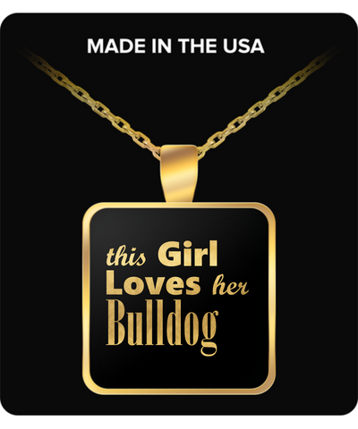 Bulldog - Gold Plated Necklace - Unique Gifts Store