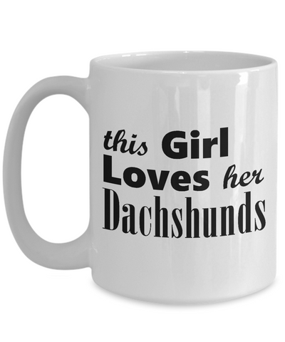 Dachshunds - 15oz Mug - Unique Gifts Store