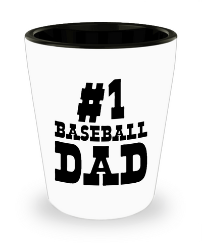 #1 Baseball Dad - Shot Glass