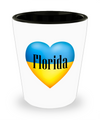 Ukrainian In Florida - Shot Glass - Unique Gifts Store