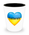 Ukrainian In California - Shot Glass - Unique Gifts Store