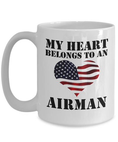 My Heart Belongs To An Airman - 15oz Mug