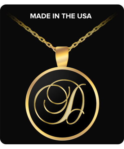Initial D - Gold Plated Necklace - Unique Gifts Store