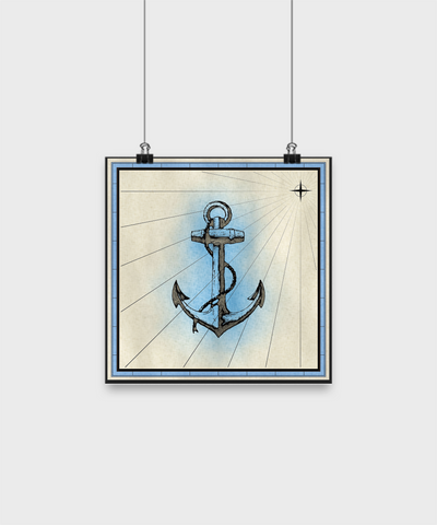 "Anchor - Poster 10""x10"" - Unique Gifts Store"