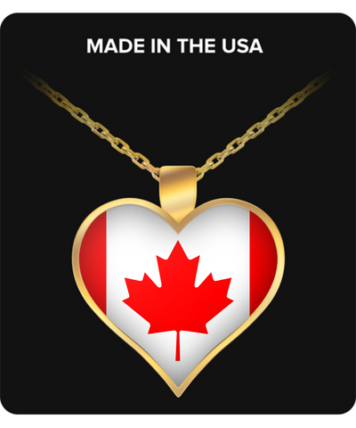 Canadian Heart - Gold Plated Necklace - Unique Gifts Store