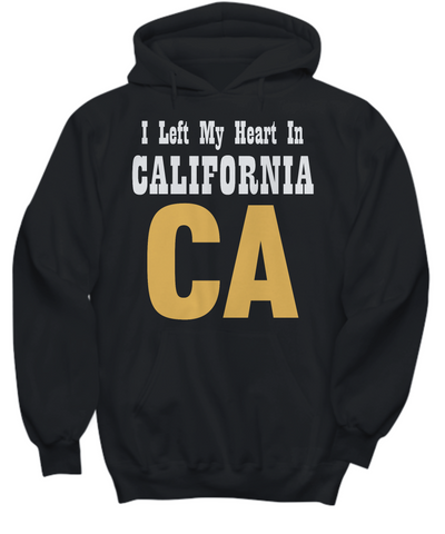 Heart In California - Hoodie - Unique Gifts Store