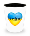 Ukrainian In Michigan - Shot Glass - Unique Gifts Store