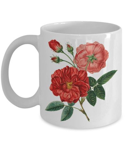 Red Roses - 11oz Mug - Unique Gifts Store