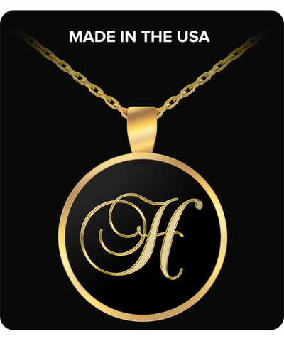Initial H - Gold Plated Necklace - Unique Gifts Store