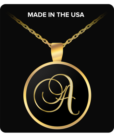 Initial A - Gold Plated Necklace