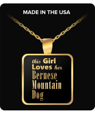 Bernese Mountain Dog - Gold Plated Necklace - Unique Gifts Store