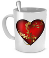 Golden Rose And Heart - 11oz Mug - Unique Gifts Store