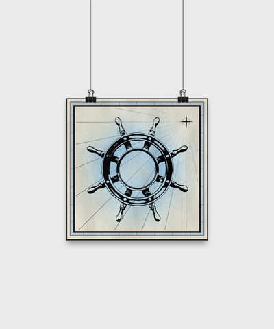 "Ship Wheel - Poster 10""x10"" - Unique Gifts Store"