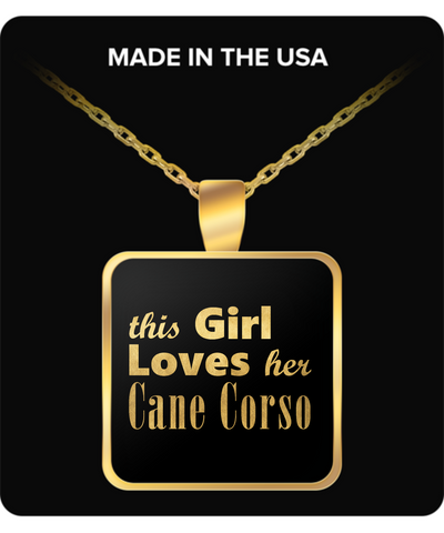 Cane Corso - Gold Plated Necklace