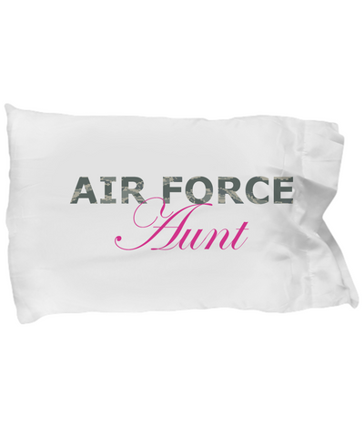 Air Force Aunt - Pillow Case - Unique Gifts Store