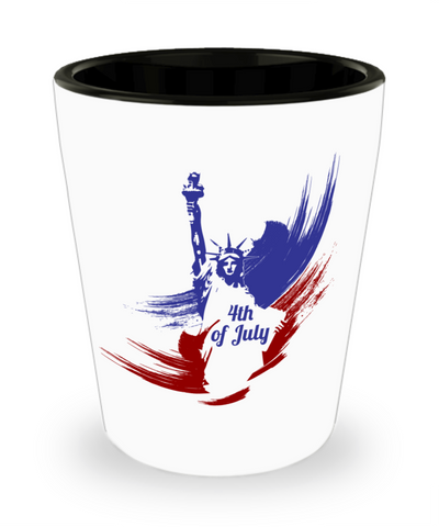 4th of July - Shot Glass - Unique Gifts Store