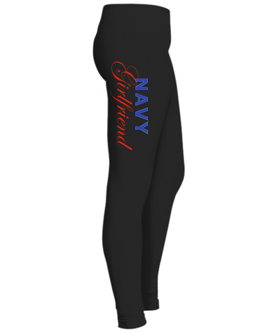 Navy Girlfriend - Leggings - Unique Gifts Store
