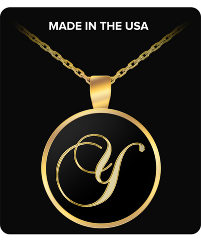 Initial Y - Gold Plated Necklace