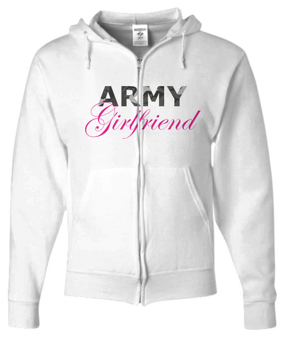 Army Girlfriend - Zip Hoodie - Unique Gifts Store