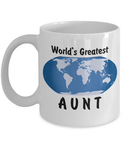 World's Greatest Aunt - 11oz Mug - Unique Gifts Store