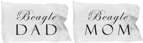 Beagle Mom & Dad - Set Of 2 Pillow Cases
