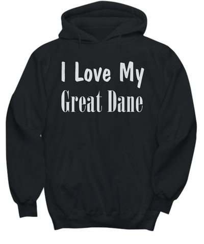 Love My Great Dane - Hoodie - Unique Gifts Store