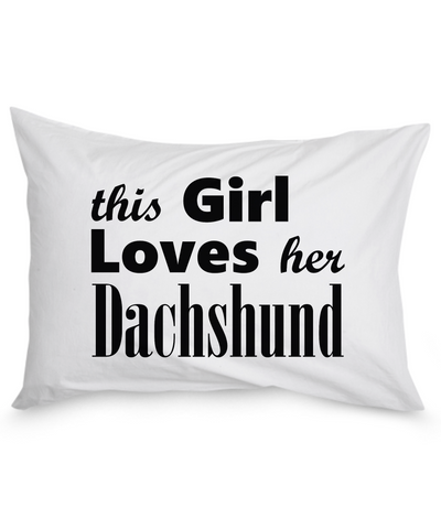 Dachshund - Pillow Case - Unique Gifts Store