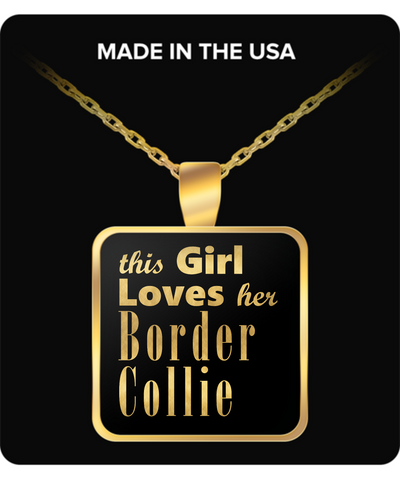 Border Collie - Gold Plated Necklace