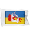 Ukrainian-Canadian - Pillow Case - Unique Gifts Store
