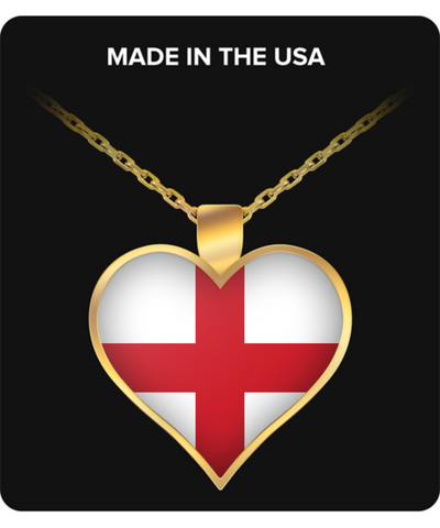 English Heart - Gold Plated Necklace - Unique Gifts Store