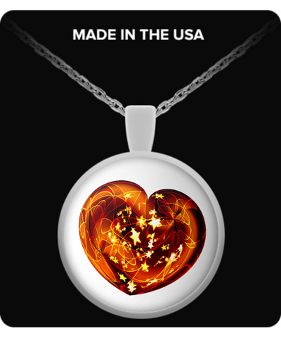 Christmas Heart - Round Pendant Necklace - Unique Gifts Store