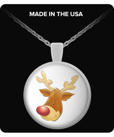The Christmas Reindeer - Round Necklace - Unique Gifts Store