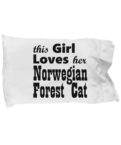 Norwegian Forest Cat - Pillow Case - Unique Gifts Store