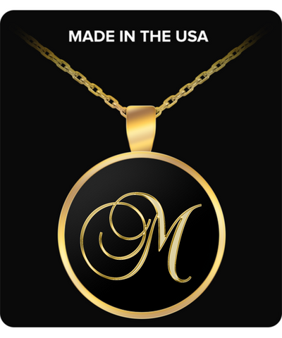 Initial M - Gold Plated Necklace