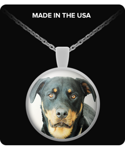 Rottweiler - Round Pendant Necklace - Unique Gifts Store