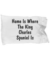 King Charles Spaniel's Home - Pillow Case