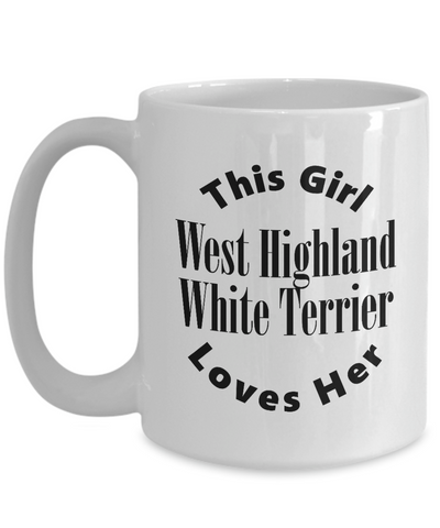 West Highland White Terrier v2c - 15oz Mug