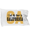 Heart In California - Pillow Case - Unique Gifts Store