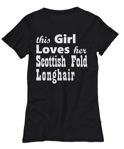 Scottish Fold Longhair - Women's Tee - Unique Gifts Store