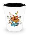 Tiger Lily Bouquet - Shot Glass - Unique Gifts Store