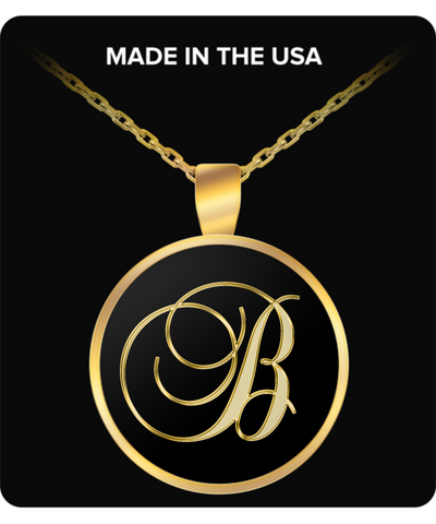 Initial B - Gold Plated Necklace - Unique Gifts Store