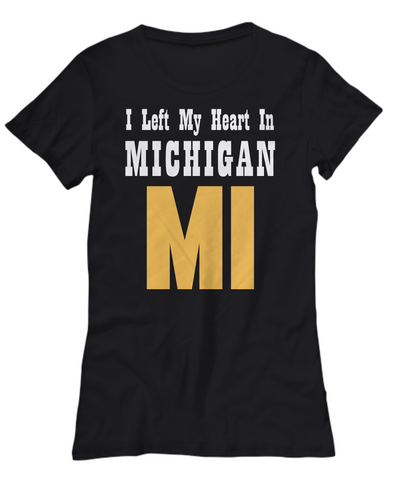 Heart In Michigan - Women's Tee