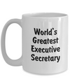 World's Greatest Executive Secretary v2 - 15oz Mug