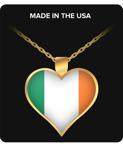 Irish Heart - Gold Plated Necklace - Unique Gifts Store