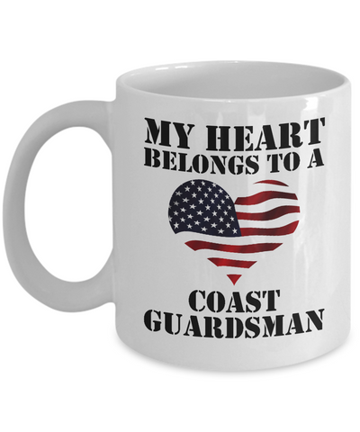 My Heart Belongs To a Coast Guardsman - 11oz Mug - Unique Gifts Store