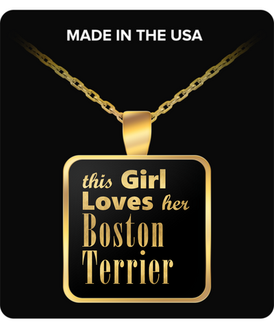 Boston Terrier - Gold Plated Necklace