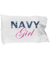 Navy Girl - Pillow Case - Unique Gifts Store