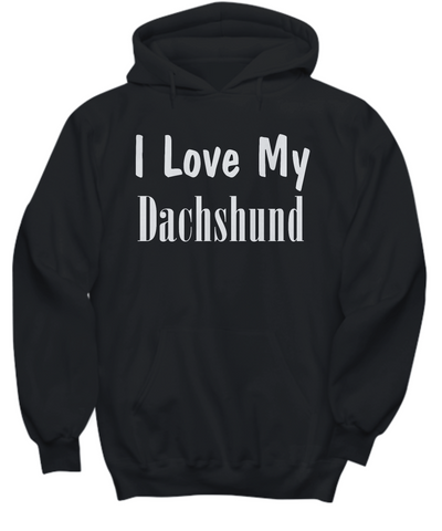 Love My Dachshund - Hoodie - Unique Gifts Store
