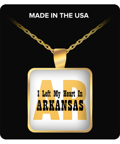 Heart In Arkansas - Gold Plated Necklace
